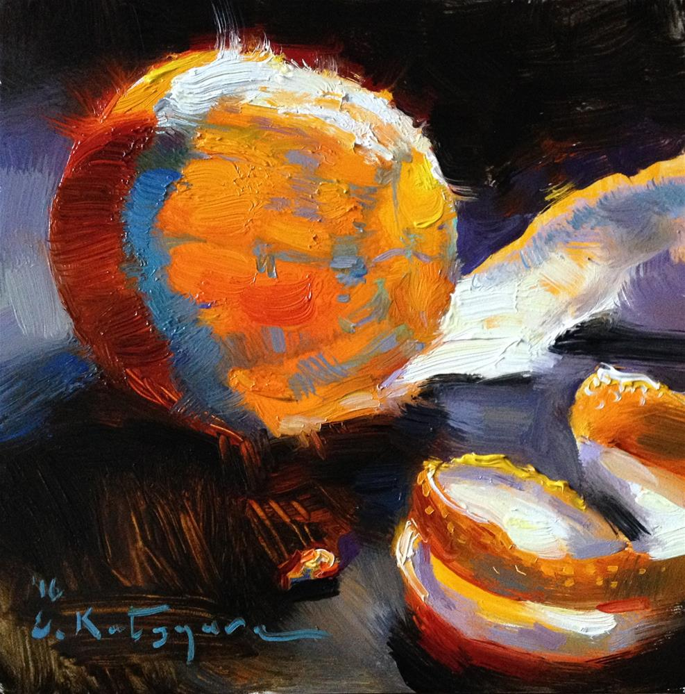 """Luminescent Orange"" original fine art by Elena Katsyura"