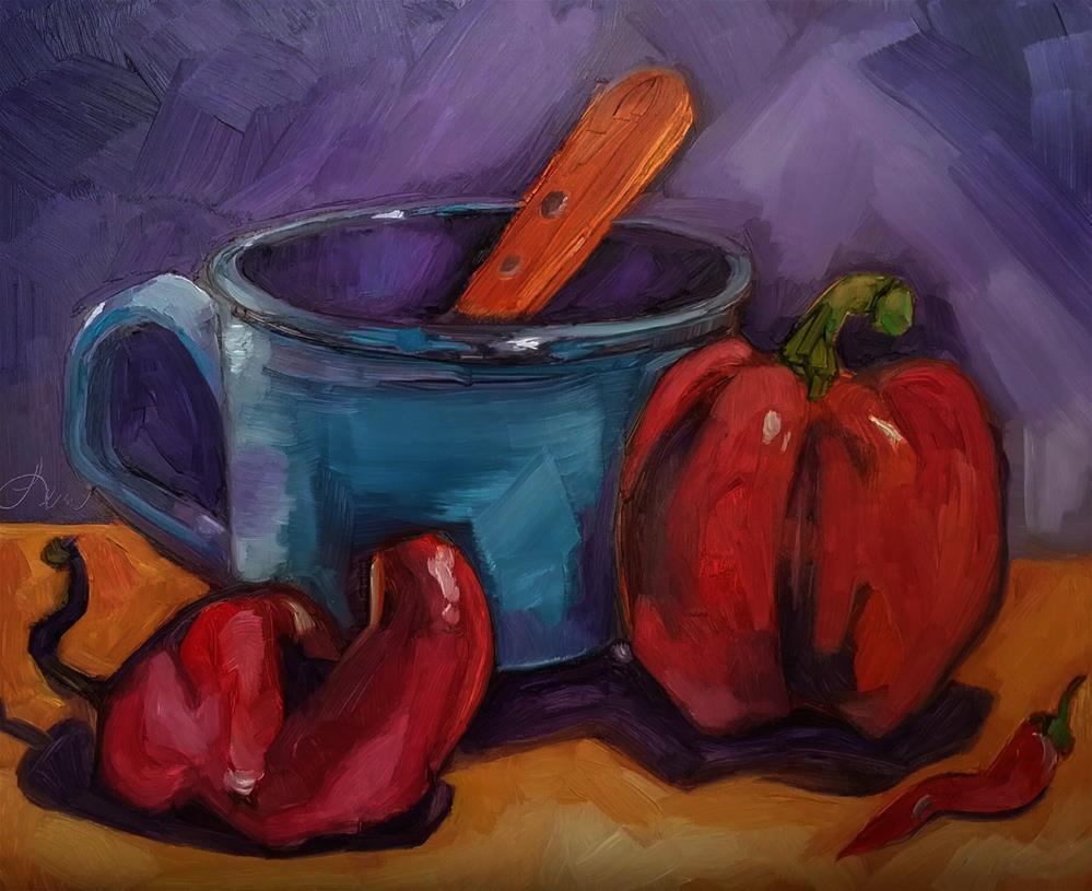 """""""Pepperfest"""" original fine art by Leni Tarleton"""