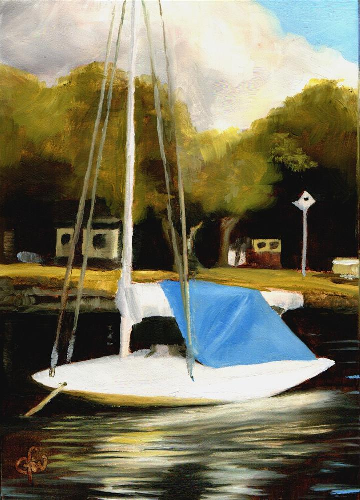 """Old Sailboat"" original fine art by Gary Westlake"