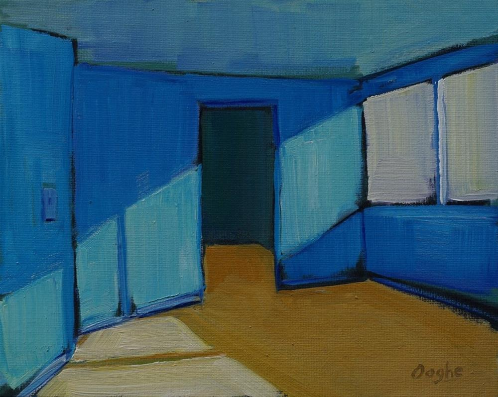 """Blue Wall"" original fine art by Angela Ooghe"