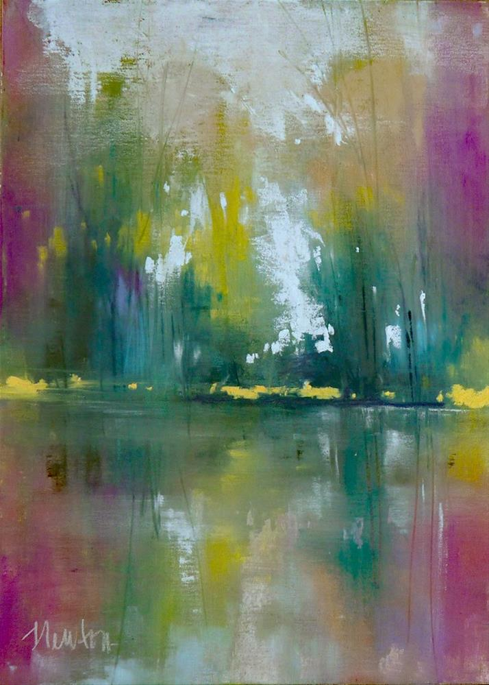 """View From the Lake"" original fine art by Barbara Benedetti Newton"