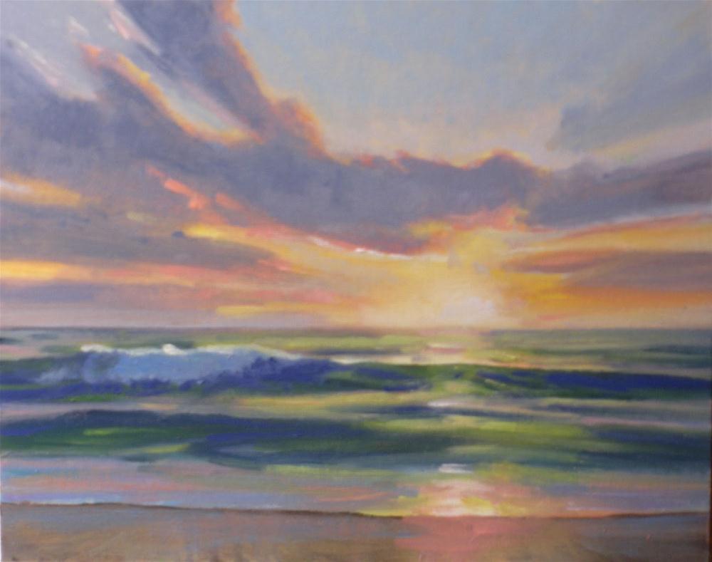 """Ocean Sunrise"" original fine art by David Forks"