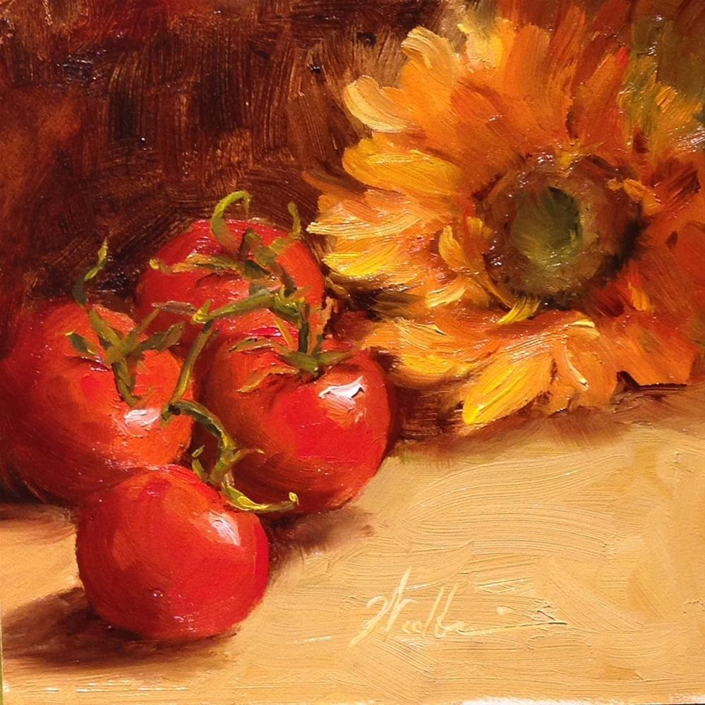 """""""Painting Summer"""" original fine art by Dorothy Woolbright"""