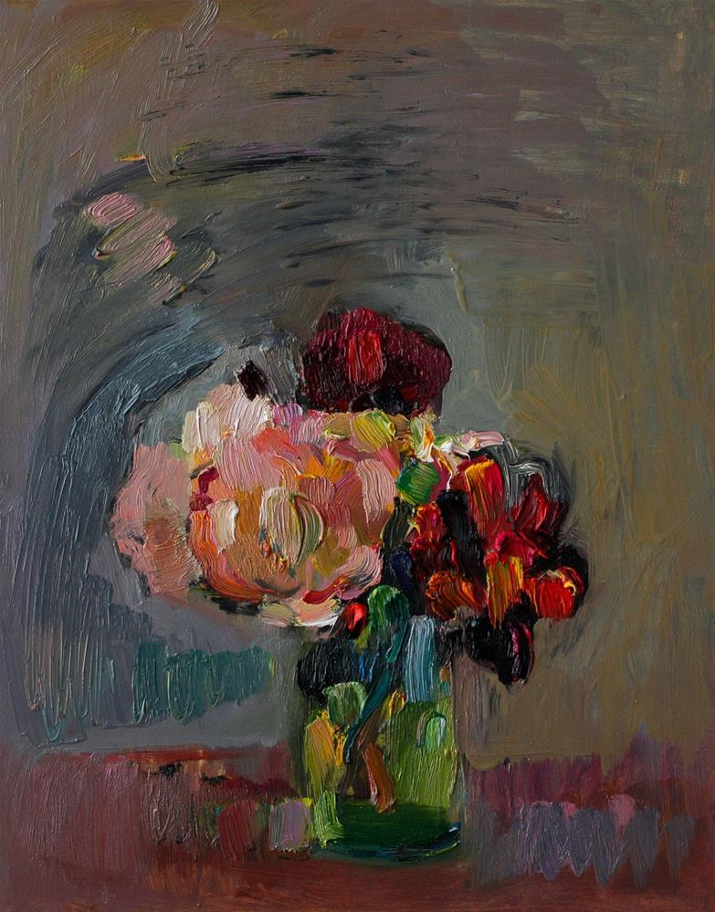 """Bouquet Of Abstract Roses"" original fine art by Anna  Fine Art"