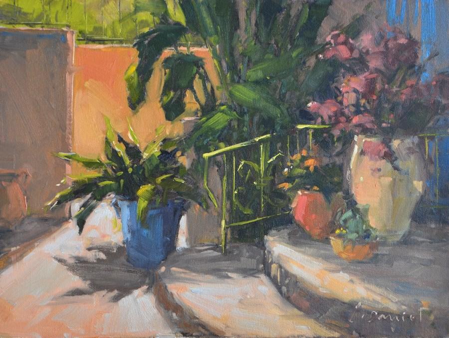 """Patio Welcome"" original fine art by Laurel Daniel"