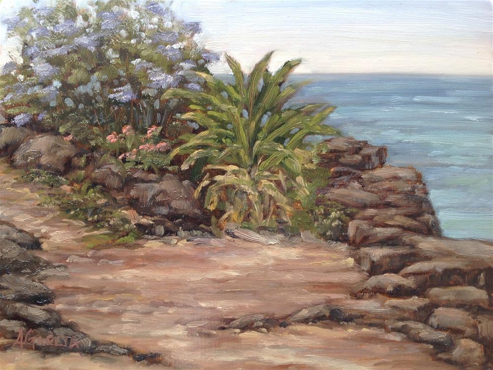 """Ocean Path"" original fine art by Jeannie Garcia"