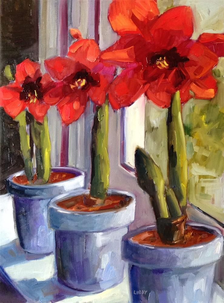 """Red Season"" original fine art by Libby Anderson"