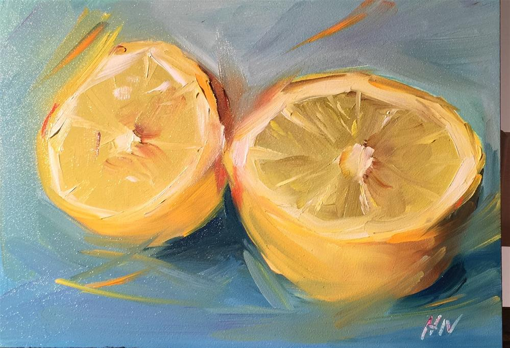 """Lemony"" original fine art by Hoda Nicholas"