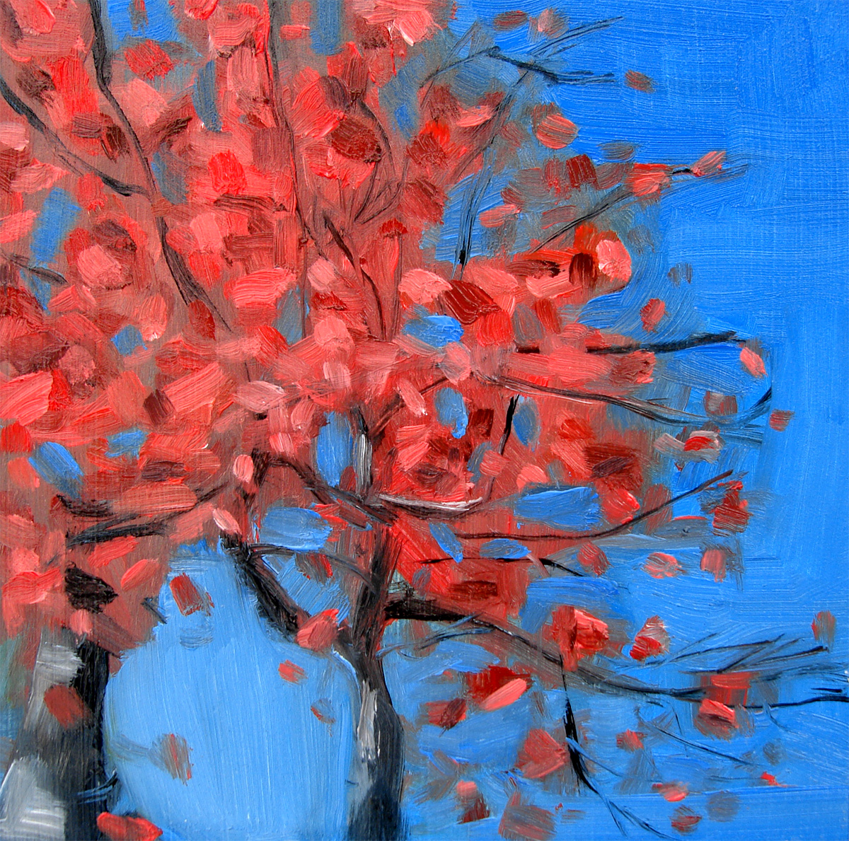 """Autumn Touched Tree"" original fine art by Michael William"