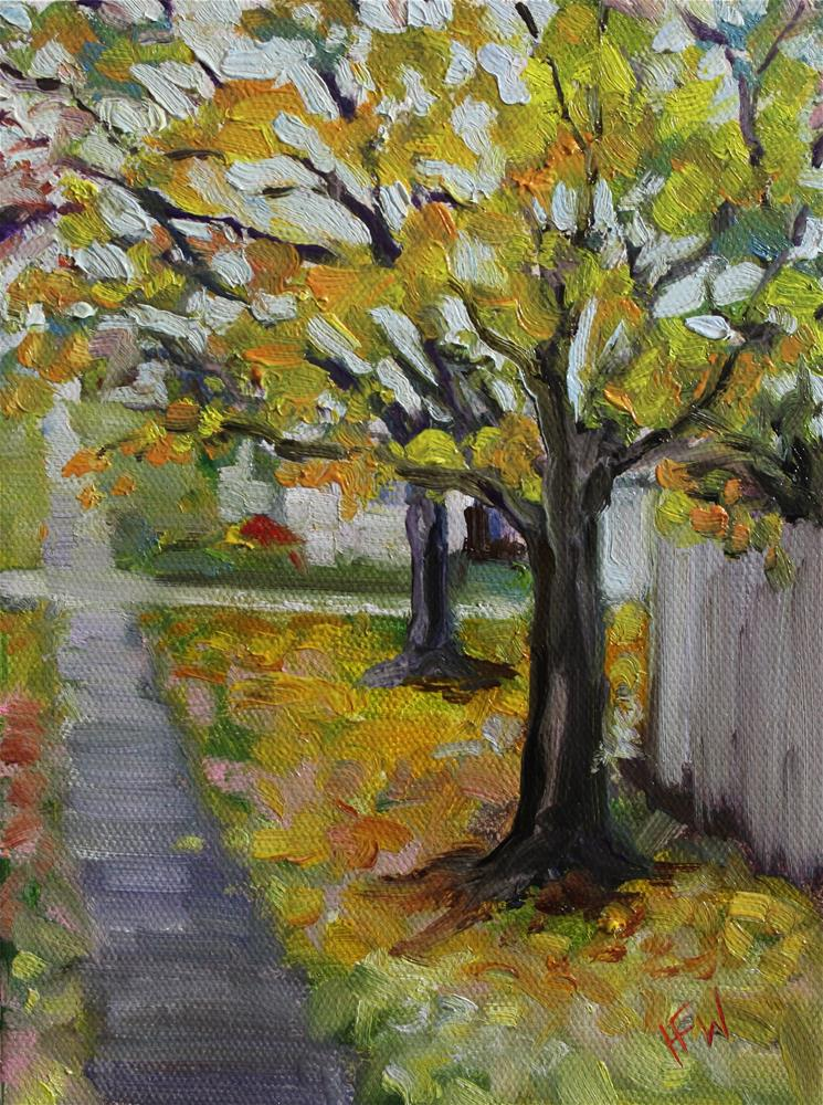 """Fall Walk"" original fine art by H.F. Wallen"