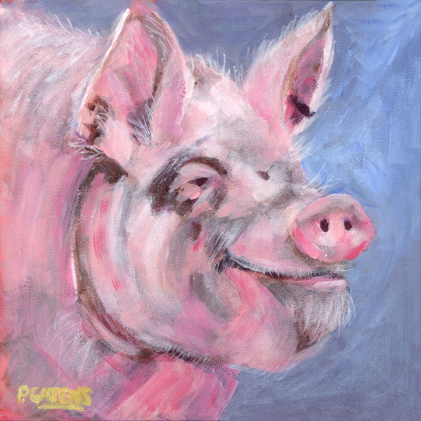 """Heavenly Ham"" original fine art by Pamela Gatens"