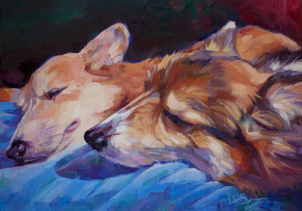 """Sleeping Siblings"" original fine art by Deborah Savo"