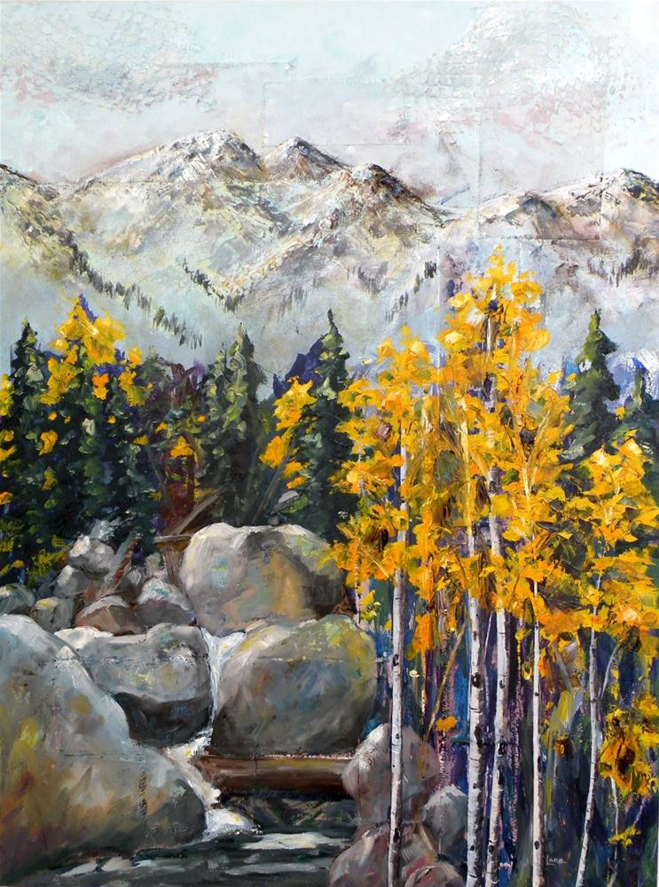"""STUDIO SALE: COLORADO VISIONS ORIGINAL MIXED MEDIA ON STRETCHED CANVAS PAINTED AROUND © SAUND"" original fine art by Saundra Lane Galloway"