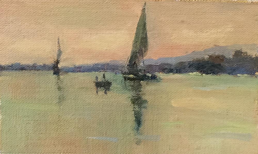 """Along The Nile"" original fine art by John Shave"