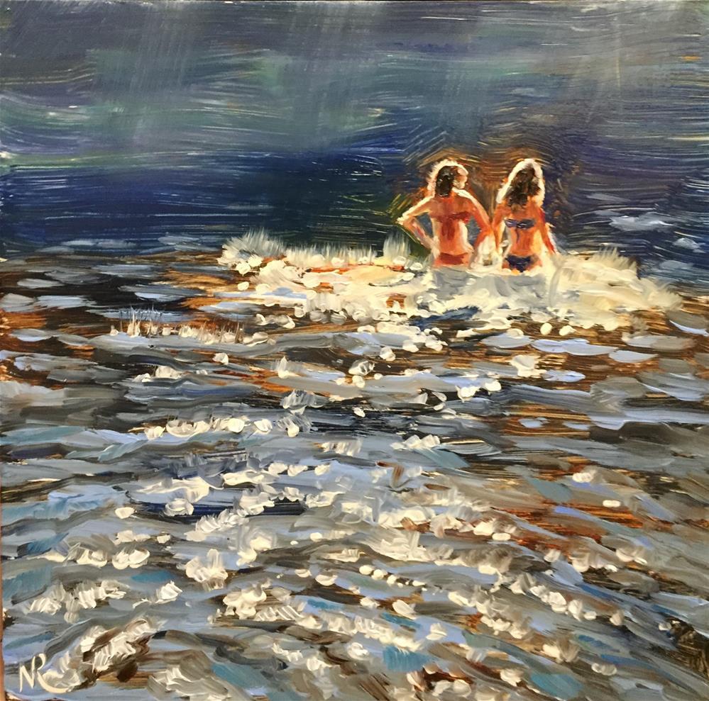 """Swimming in the light"" original fine art by Natasha Ramras"