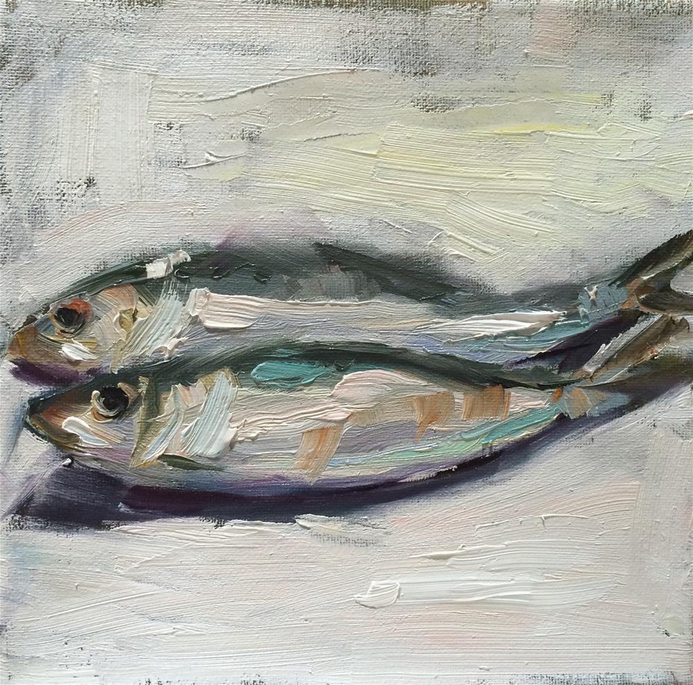 """Sardines"" original fine art by Naomi Bautista"