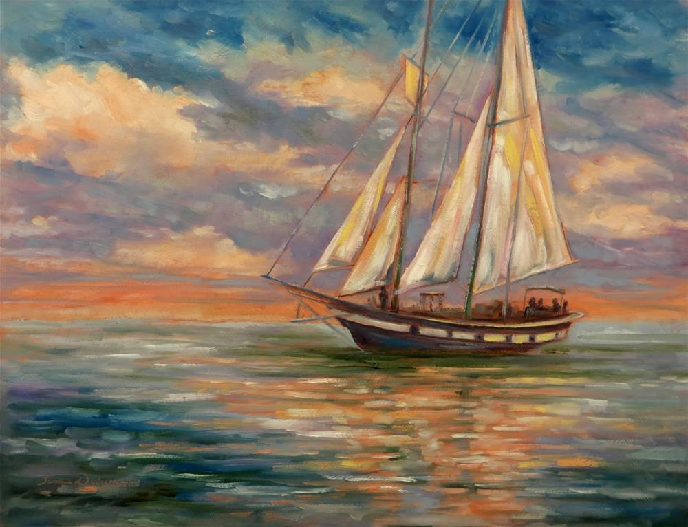 """Deep Sea Sailing"" original fine art by Tammie Dickerson"