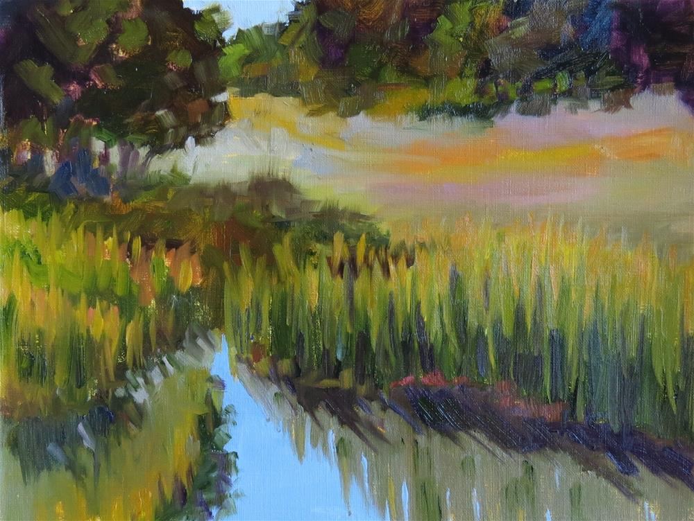 """Tucked Away Pond"" original fine art by Pam Holnback"