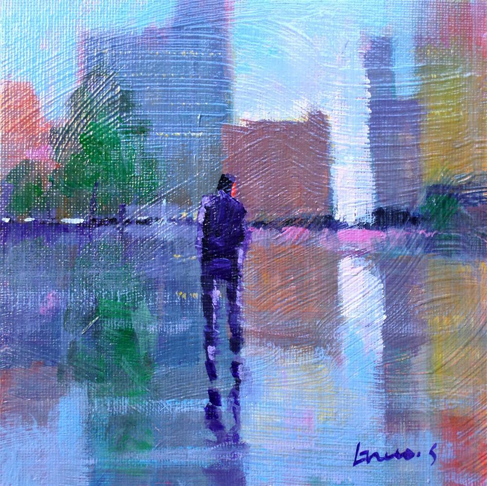 """""""in the city"""" original fine art by salvatore greco"""