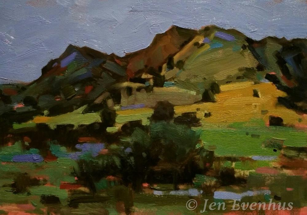 """Abiquiu Welcome"" original fine art by Jennifer Evenhus"