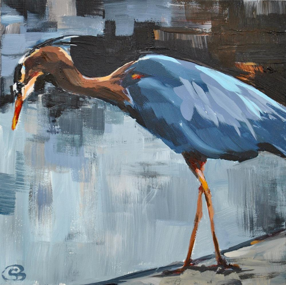 """Great Blue Heron 2"" original fine art by Shari Buelt"