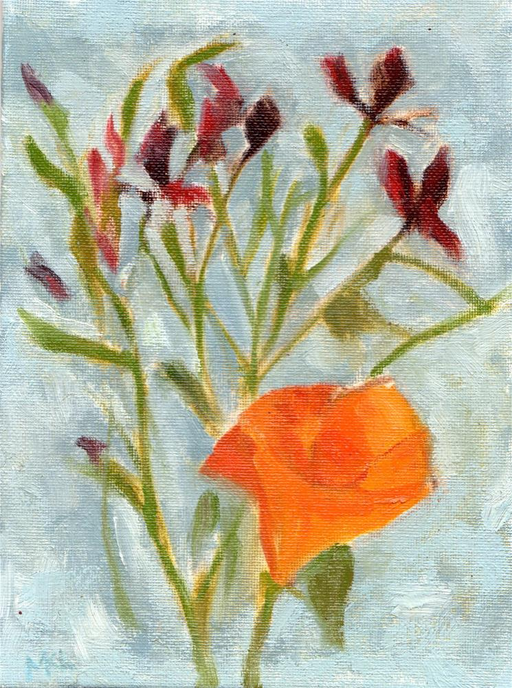 """California Poppy"" original fine art by Marlene Lee"