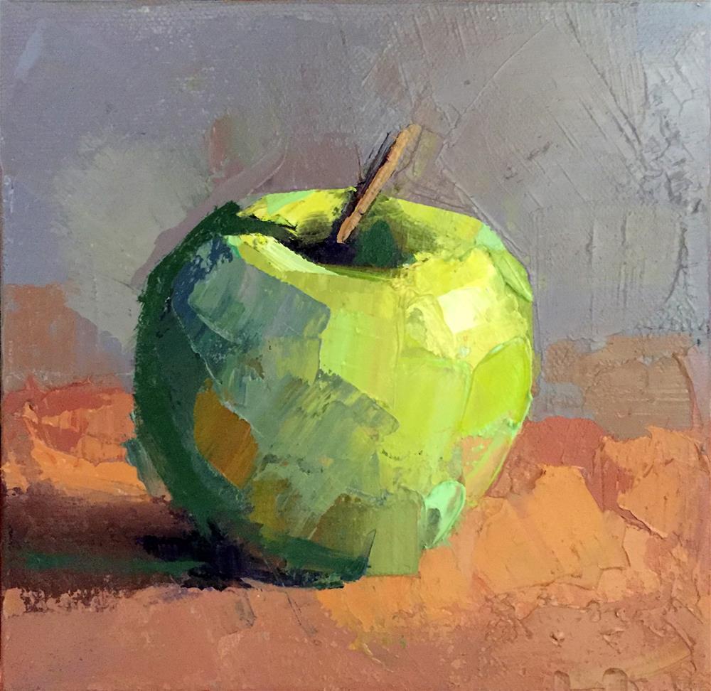 """Green Apple"" original fine art by Trisha Adams"