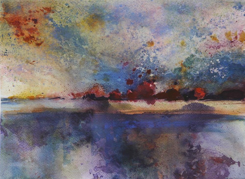"""rusty lake2"" original fine art by Beata Musial-Tomaszewska"
