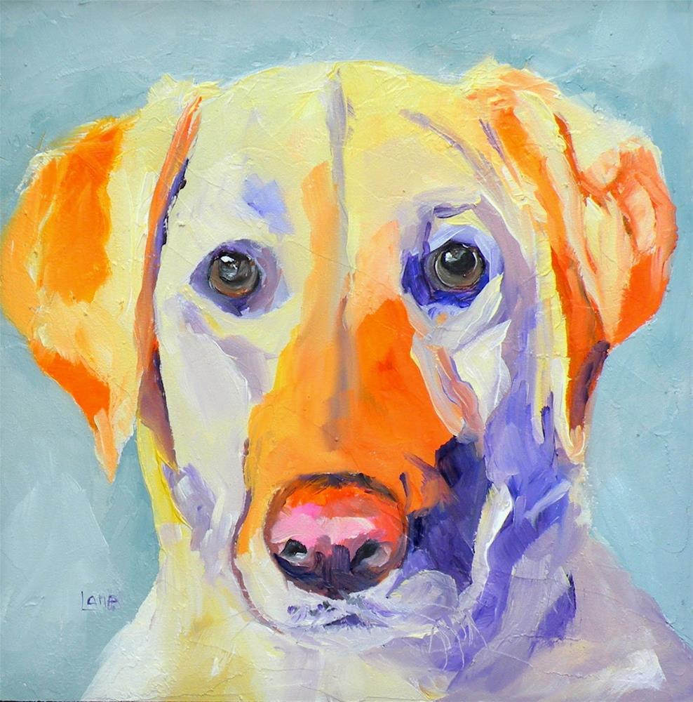 """GRACIE 30/100 OF 100 PET PORTRAITS IN 100 DAYS © SAUNDRA LANE GALLOWAY"" original fine art by Saundra Lane Galloway"