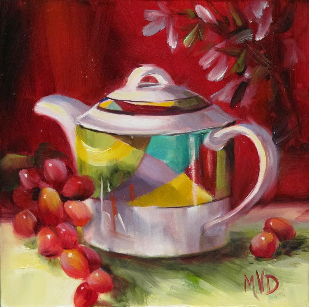 """Mikasa Teapot"" original fine art by Mary Van Deman"