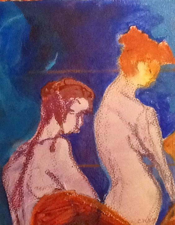 """The Models"" original fine art by Carol Wiley"