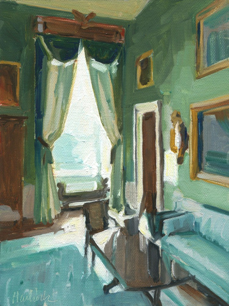 """Window in the Green Room"" original fine art by Gretchen Hancock"