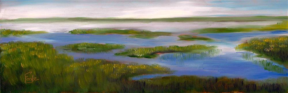 """Misty Morning"" original fine art by Rachel Fogle"