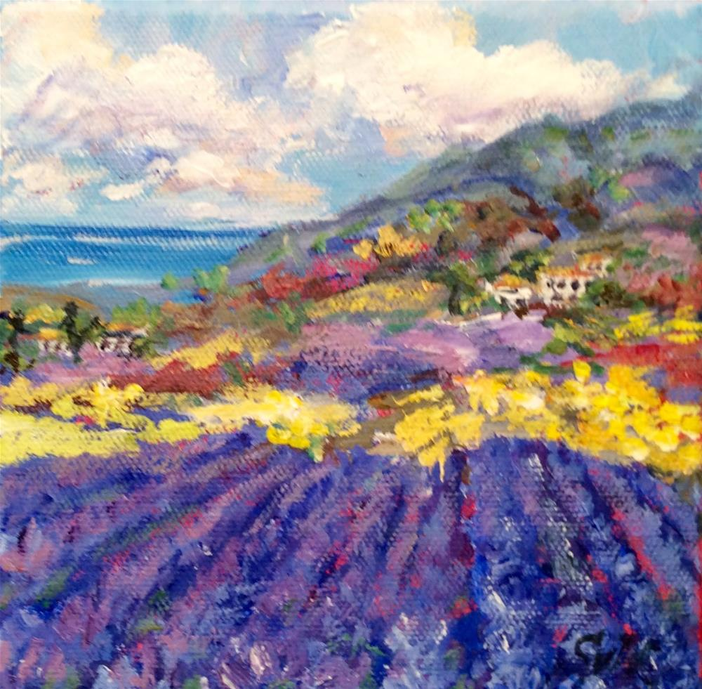 """Provence lavender dream"" original fine art by Sonia von Walter"