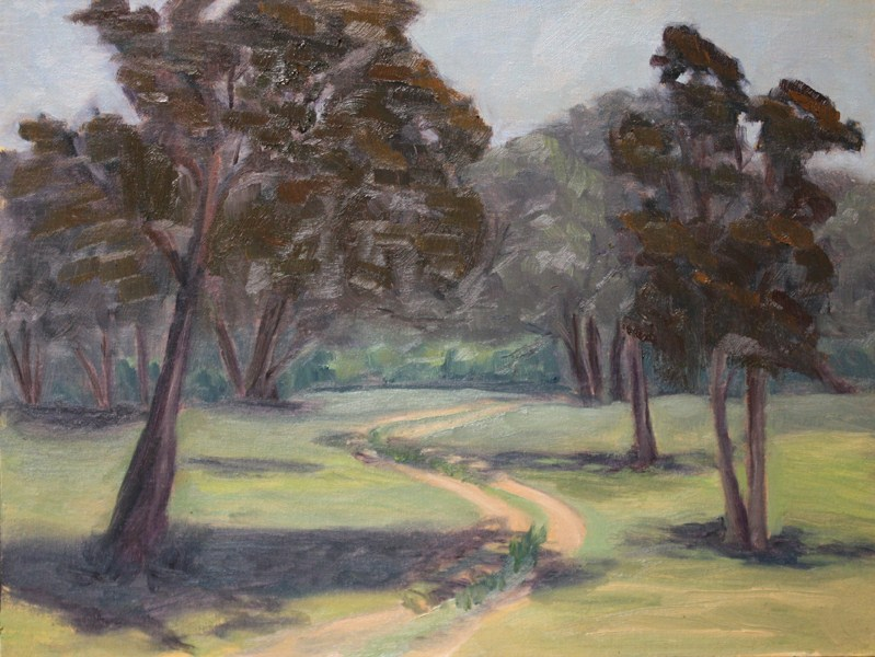 """Twin Track"" original fine art by Jane Frederick"
