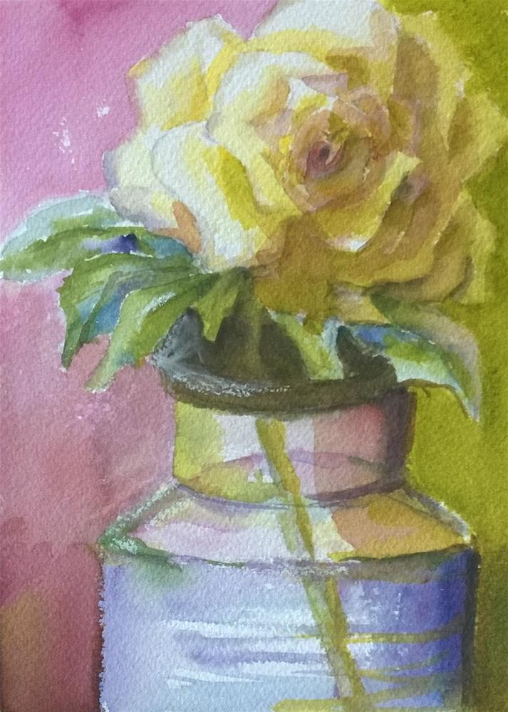 """The last of my yellow roses"" original fine art by Crisynda Buss"