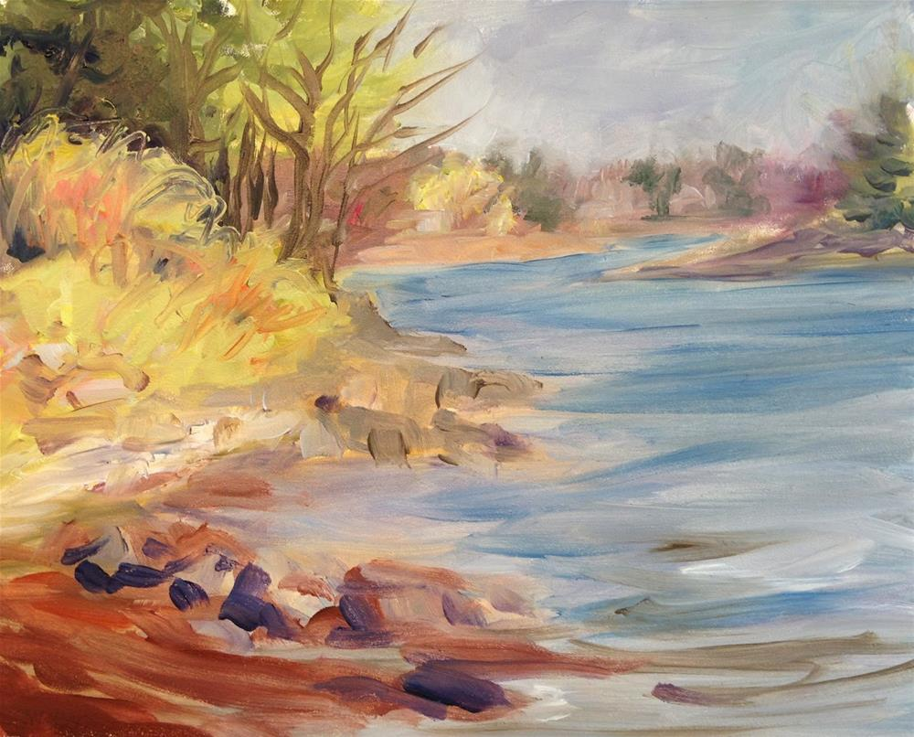 """York River, Maine"" original fine art by Lynne Schulte"