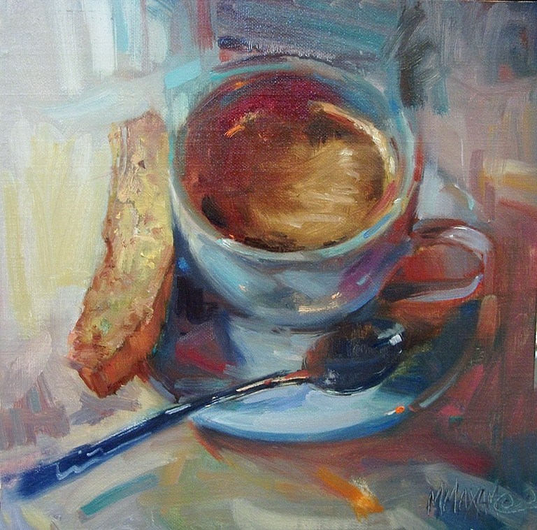 """Biscotti"" original fine art by Mary Maxam"