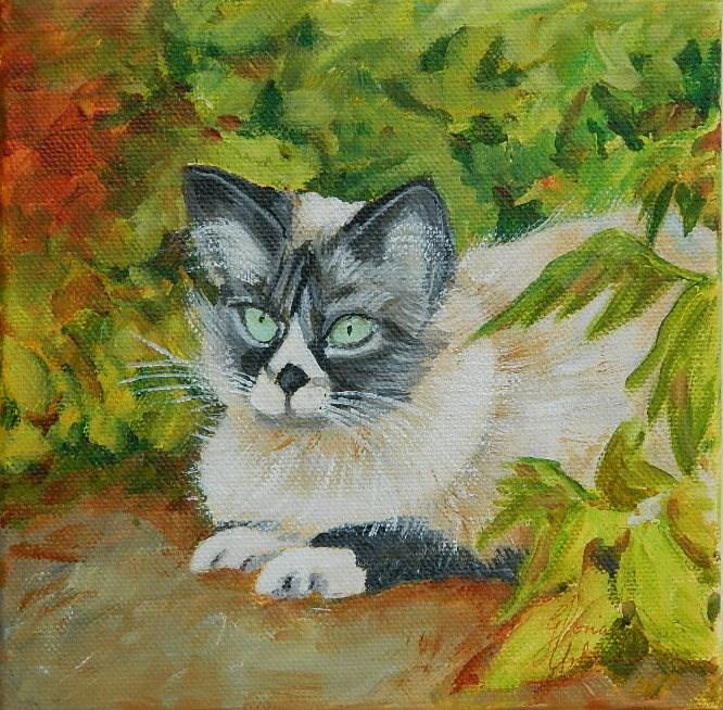 """Little Kitty"" original fine art by Gloria Urban"