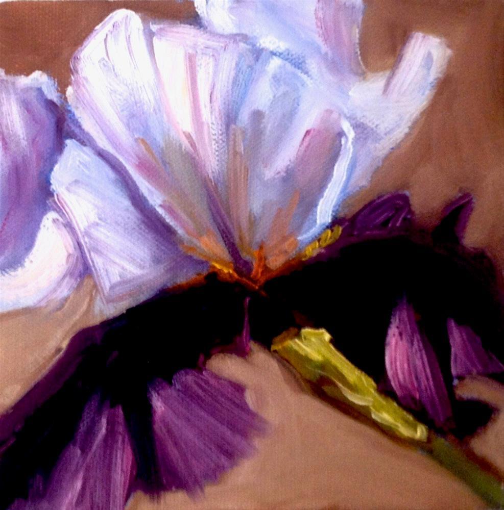 """Purple Iris"" original fine art by Deborah Czernecky"
