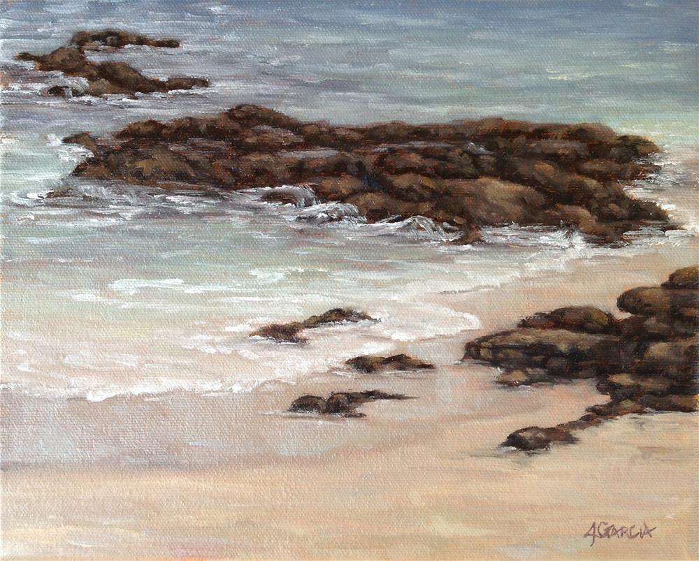 """Lava and Sand II"" original fine art by Jeannie Garcia"