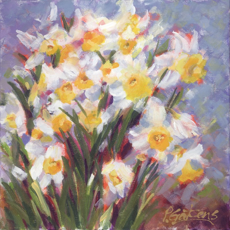"""Daffodil Hill"" original fine art by Pamela Gatens"