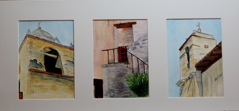 """Views of Carmel Mission"" original fine art by Mary Datum"