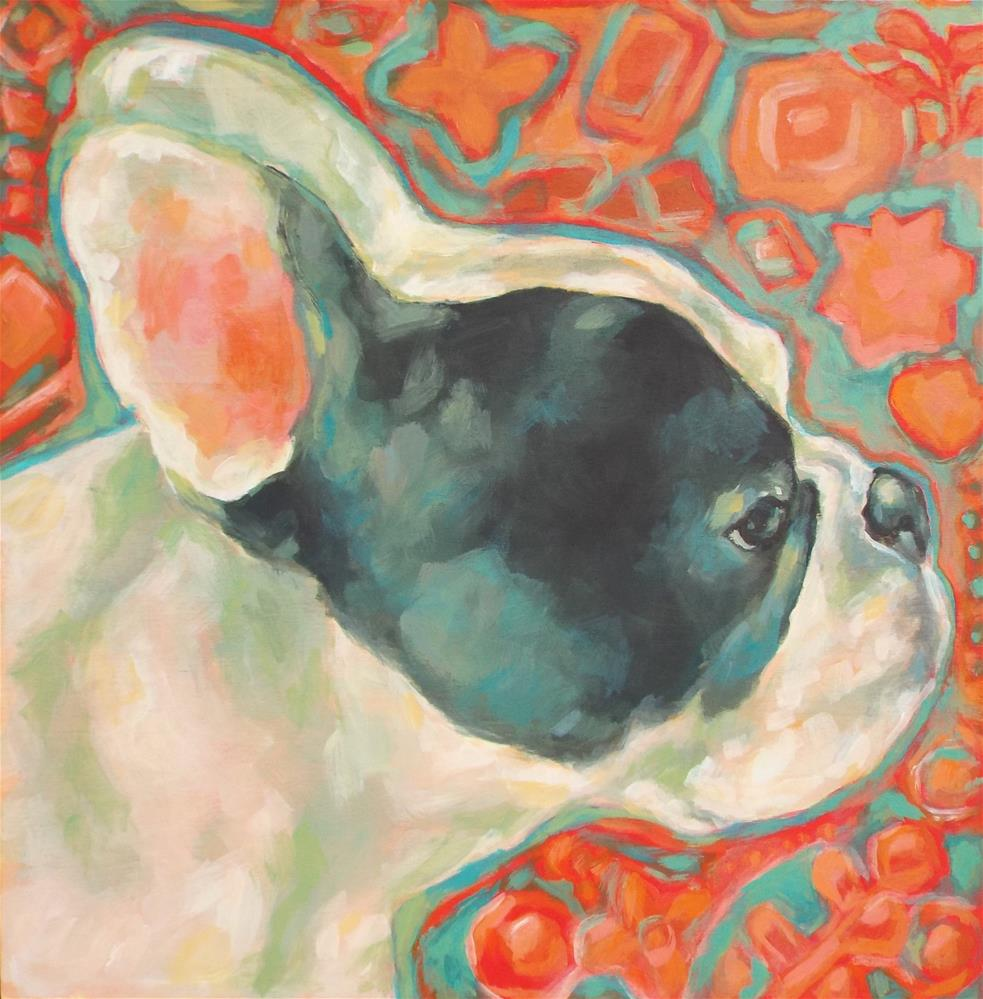 """Frenchie"" original fine art by Kathy Hiserman"