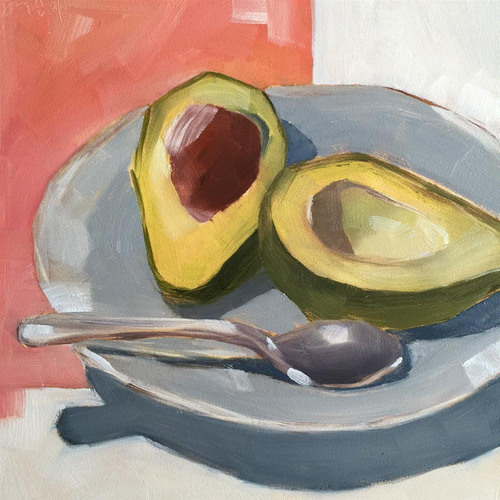 """121 Avocado"" original fine art by Jenny Doh"