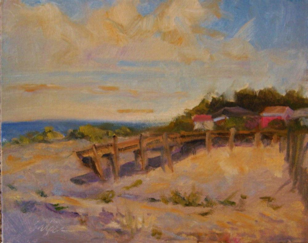 """Houses by the Water, Edisto Island"" original fine art by Connie Snipes"