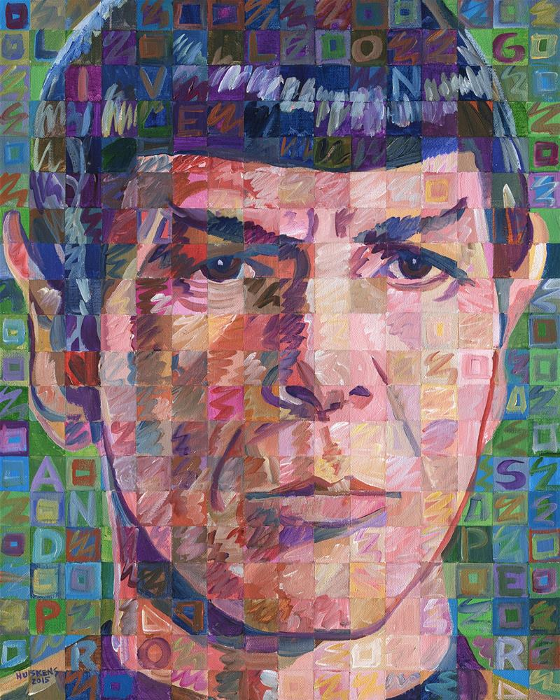 """Leonard Nimoy As Mr. Spock"" original fine art by Randal Huiskens"
