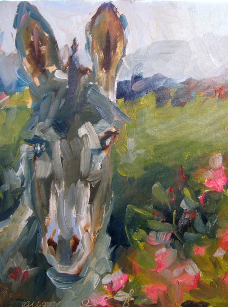 """Mule of Maury County"" original fine art by Susan Elizabeth Jones"