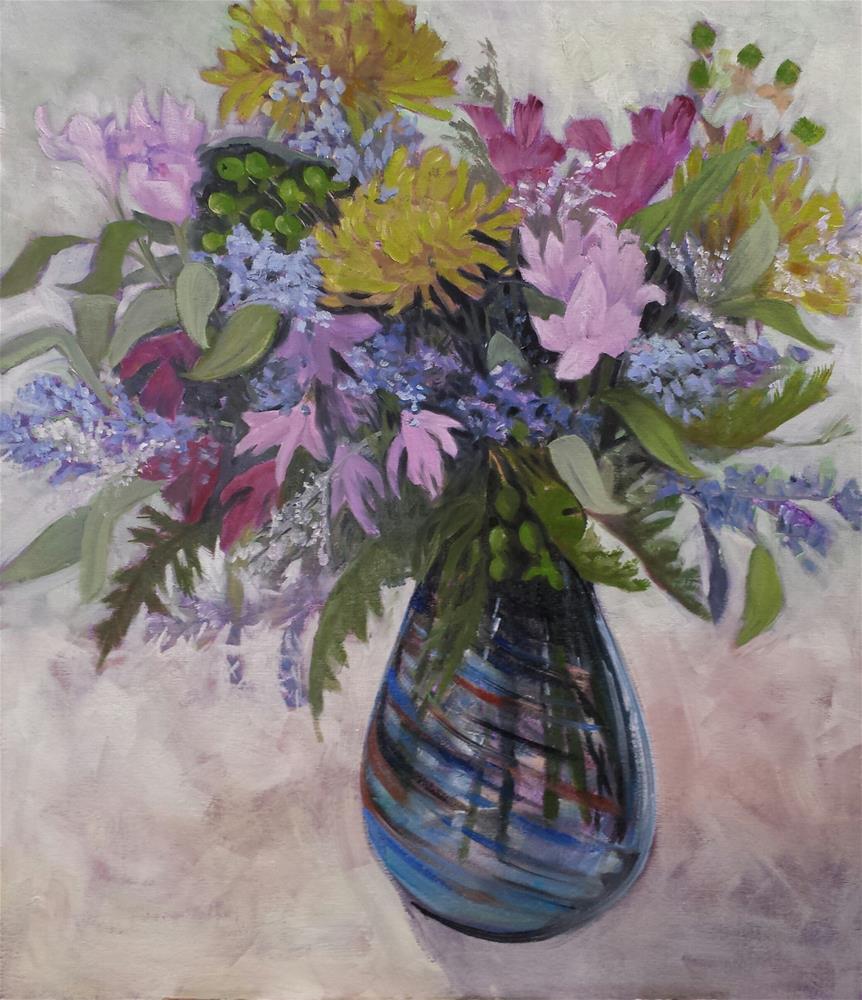 """Think Spring"" original fine art by Judith Fletcher"