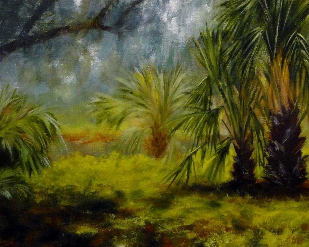 """#400! Palms At The Waters Edge"" original fine art by Dalan Wells"